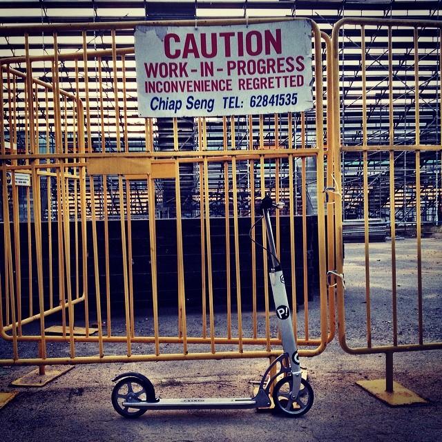 #xootr #kickboard #sg #singapore  exercise-in-progress