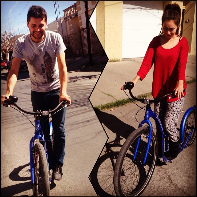 Cute couples like to kick it too! #Kickbike #KickItForward #FromFinlandWithLove