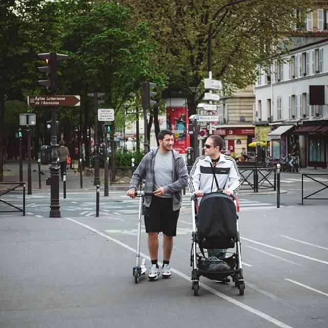Revisit my last year Paris trip. #paris #replichrome #kickscooter #skatescooter #stroller