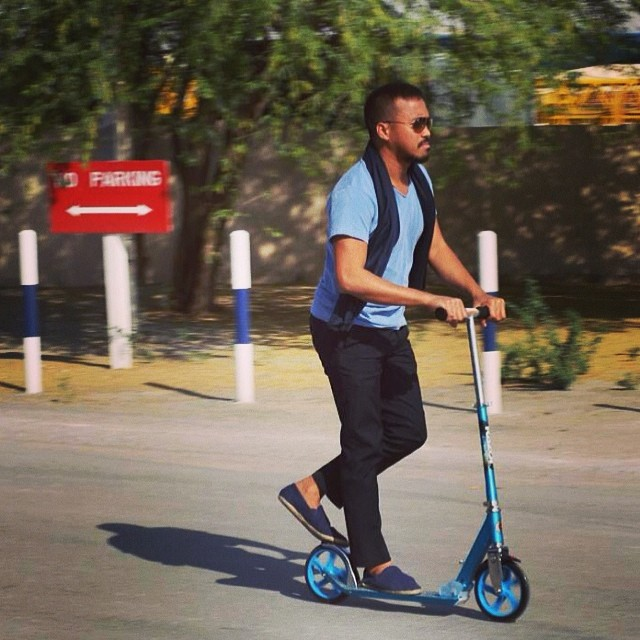 No license , No problem. #kickscooter #dubai