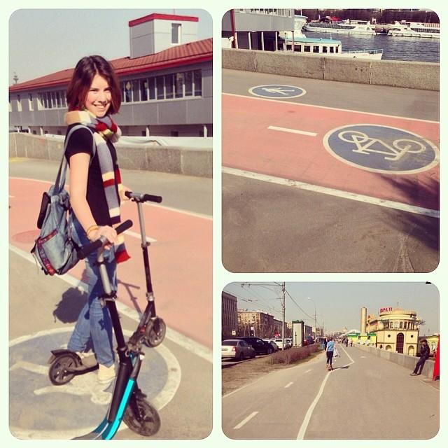 Чудные #велодорожки напротив #паркгорького
