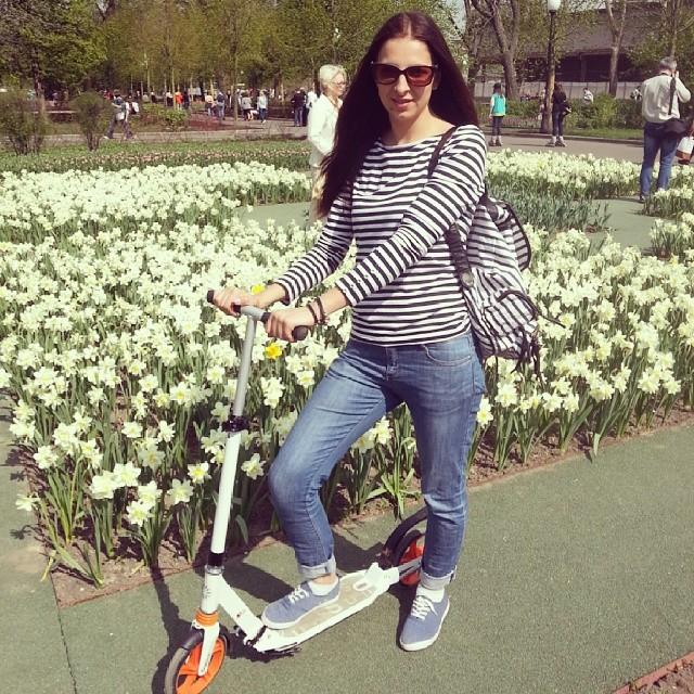 Мега хипста день#хипстерхуипстер#самокат#sport#holidays#Moscow#spring