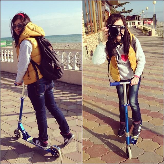 А я купила #самокат #scooter #fun #kid #crazy #lovelife #enjoy #sochi