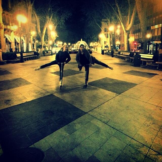 Io#maty#monopattino#passeggiata#serata#stanche