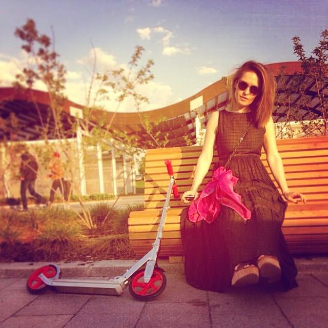 Мы укатались...)) #солнце #самокат #москва
