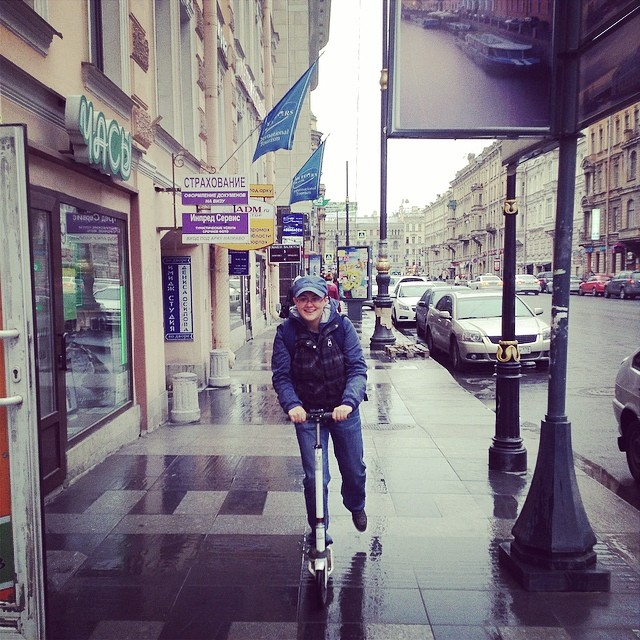 Осваиваю новый вид транспорта! Круто! Понравилось! Беру! #питер #самокат #санктпетербург #транспорт