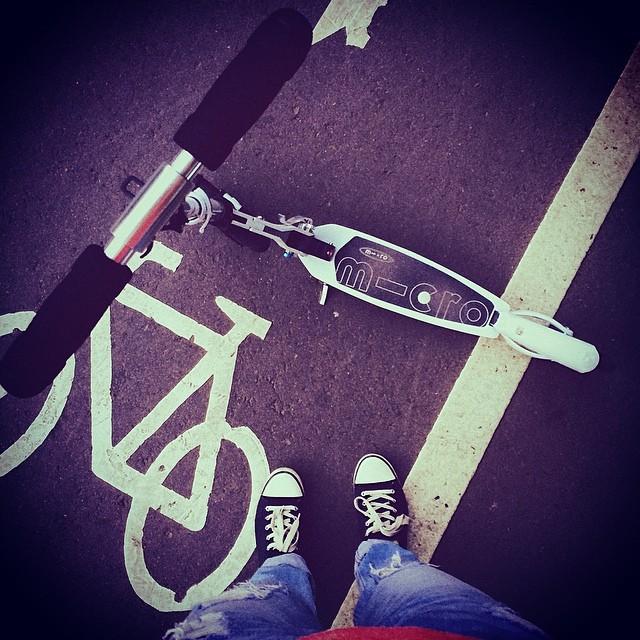 осамокатилась! #vscocam #micro #scooter #самокат #сокольники #праздниккаждыйдень