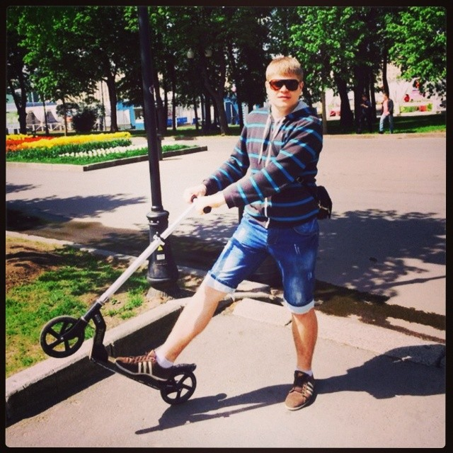 Прогулка по парку! #паркименигорького #самокат
