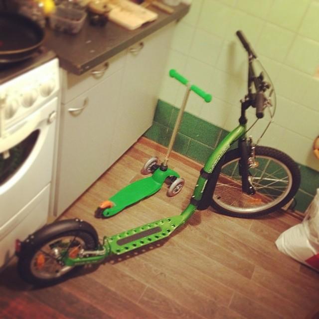 Family look #scooter #самокат #kickbike #footbike #micro #minimicro #familylook