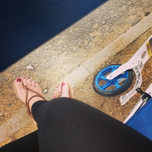 #лето#самокат#сандали#