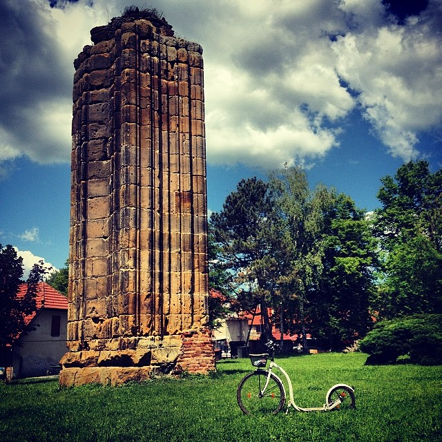 #Bohemia has 7 cathedrals. This is one of them. #gothic #monastery #cathedral #column #kickbike #kolobka #footbike #koloběžka