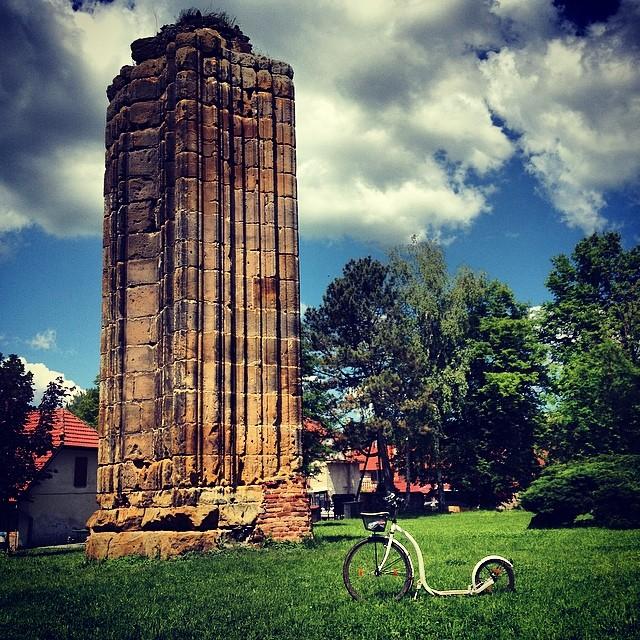 #Bohemia has 7 cathedrals. This is one of them. #gothic #monastery #cathedral #column #kickbike #kolobka #footbike #koloběžka
