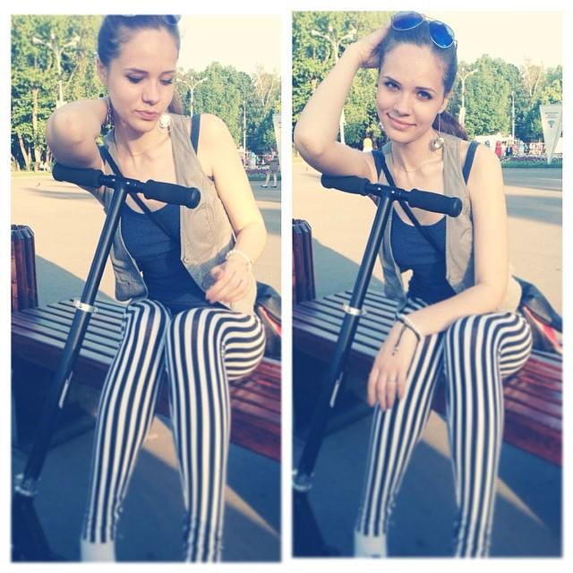 Самокатик #самокат )))Наконец его купила)) #Восторг ))))